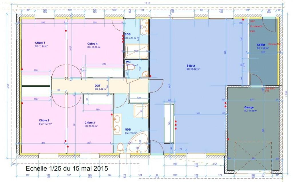 Vdi th que grade 3 maison 125 m2 4 chambres r seau for Baie de brassage rj45 maison