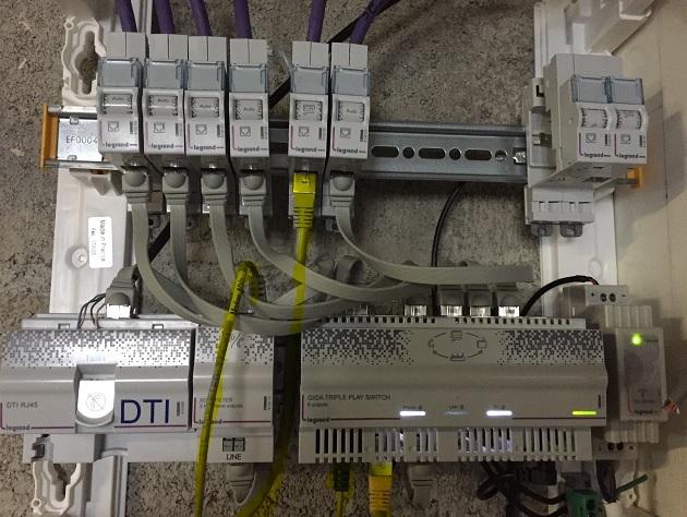 Coffret de communication legrand auto avec branchement kit box d port e tripleur rj45 - Branchement coffret de communication legrand ...